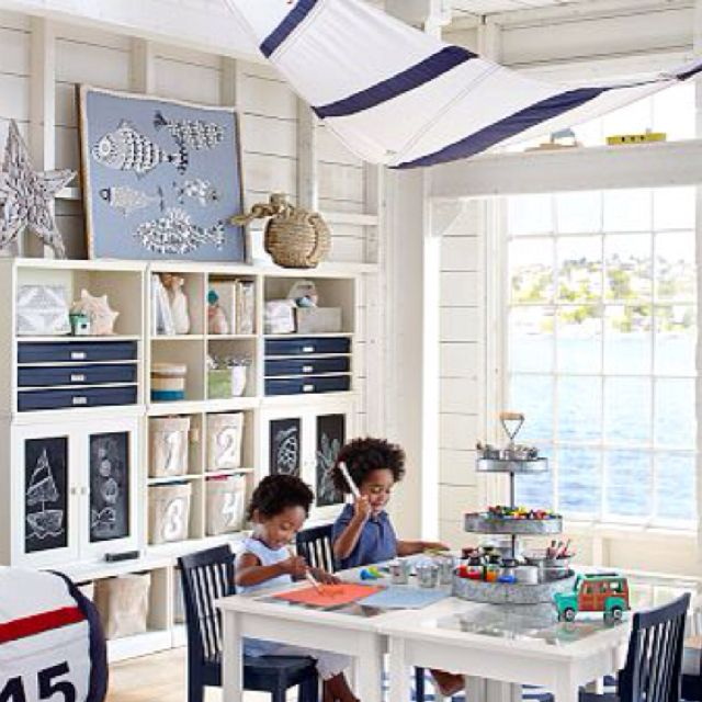 Pottery Barn Kids Nautical Playroom | Kid's Room