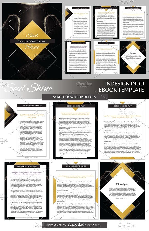 Soul Shine INDD Ebook Template | Presentation templates and Template