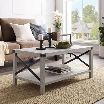modern farmhouse stone gray coffee table in 2020 on modern farmhouse patio furniture coffee tables id=67658