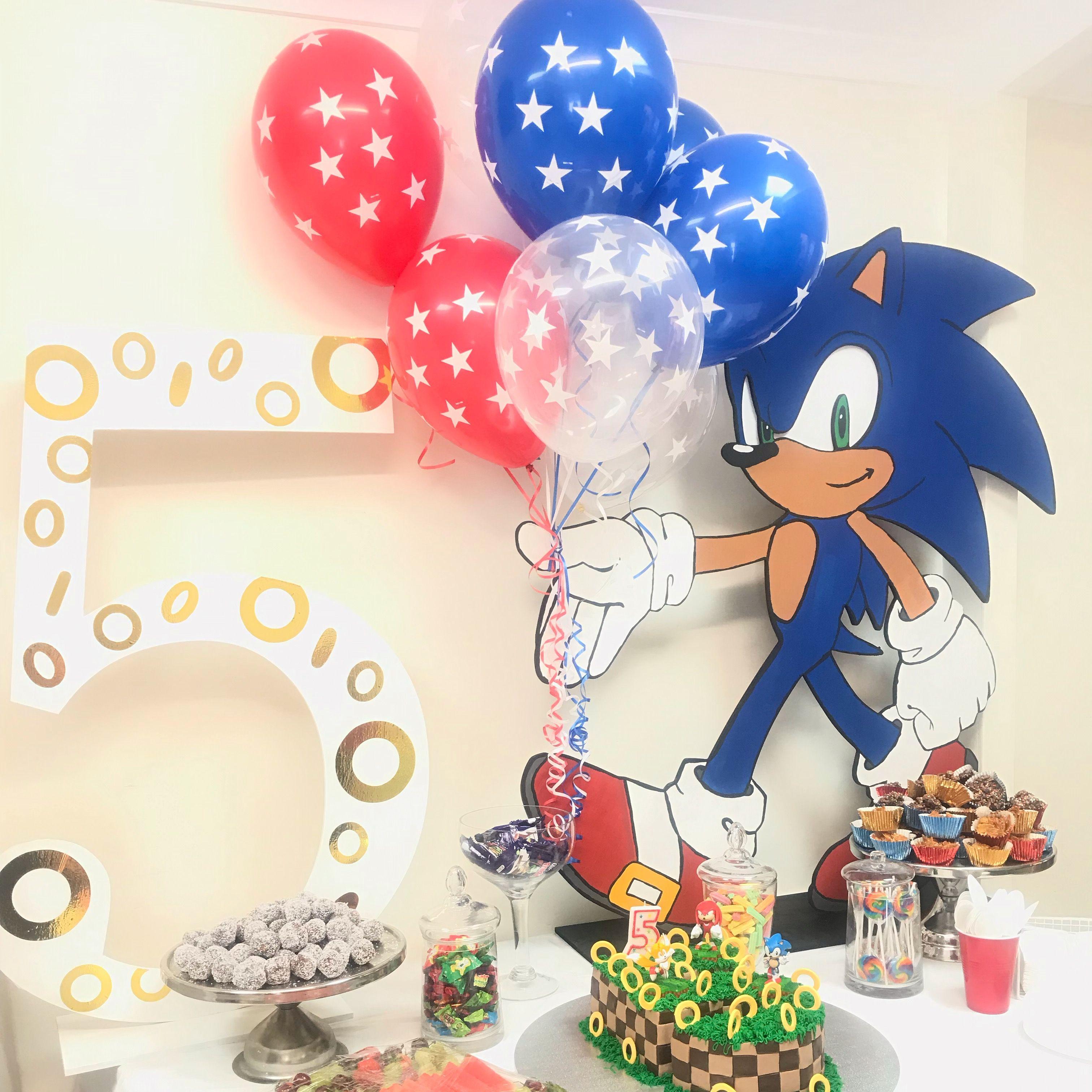 Custom Cutouts Sonic Birthday Parties Sonic Birthday Birthday Theme
