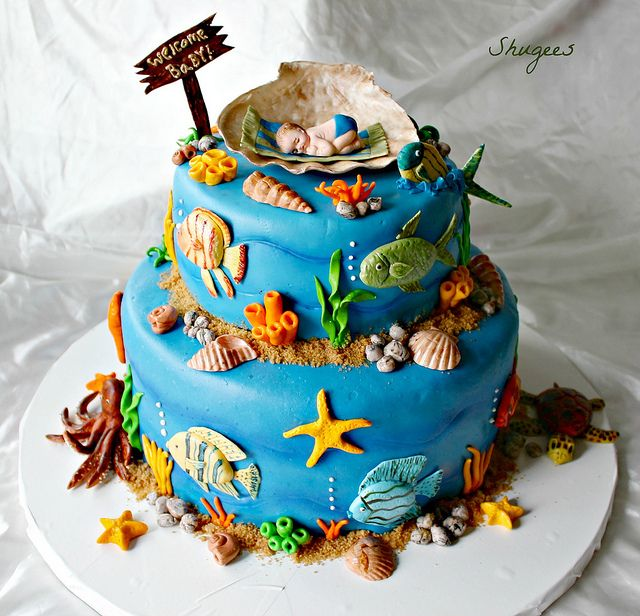 Under The Sea Baby Shower Sea Baby Shower Sea Life Baby Shower Ideas Baby Shower Cakes For Boys