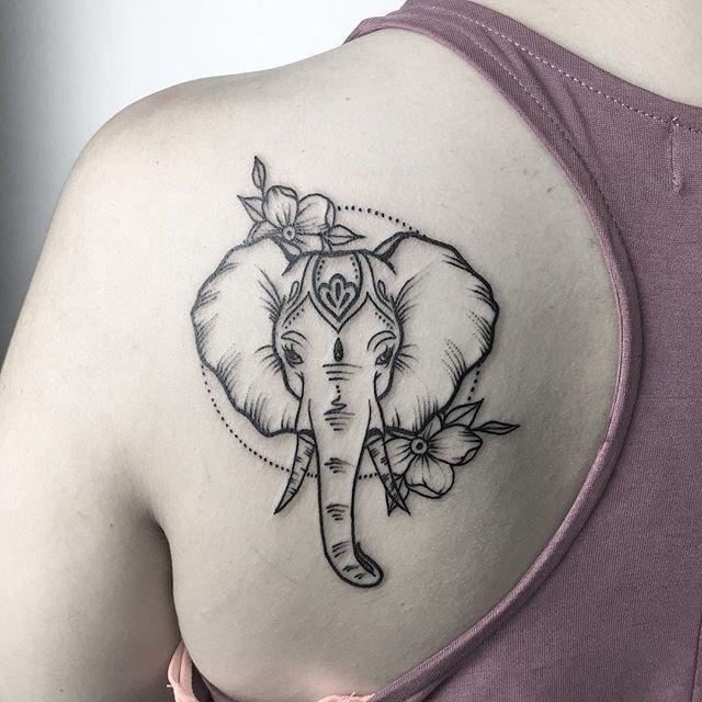 1187e85f5 75 Big And Small Elephant Tattoo Ideas – Brighter Craft #tattoosformen