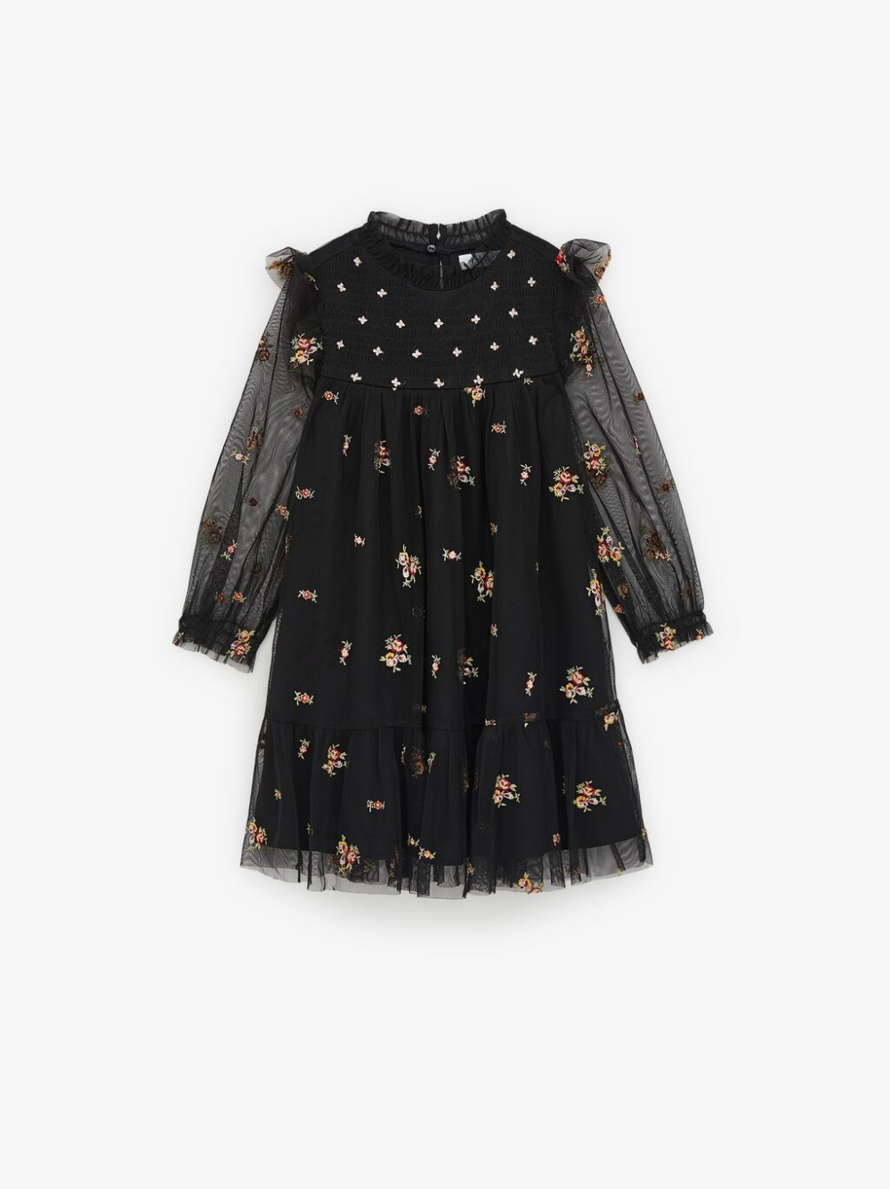 Embroidered Tulle Dress Dresses Jumpsuits Girl 6 14 Years Kids Zara United States Embroidered Tulle Dress Tulle Dress Dresses Kids Girl