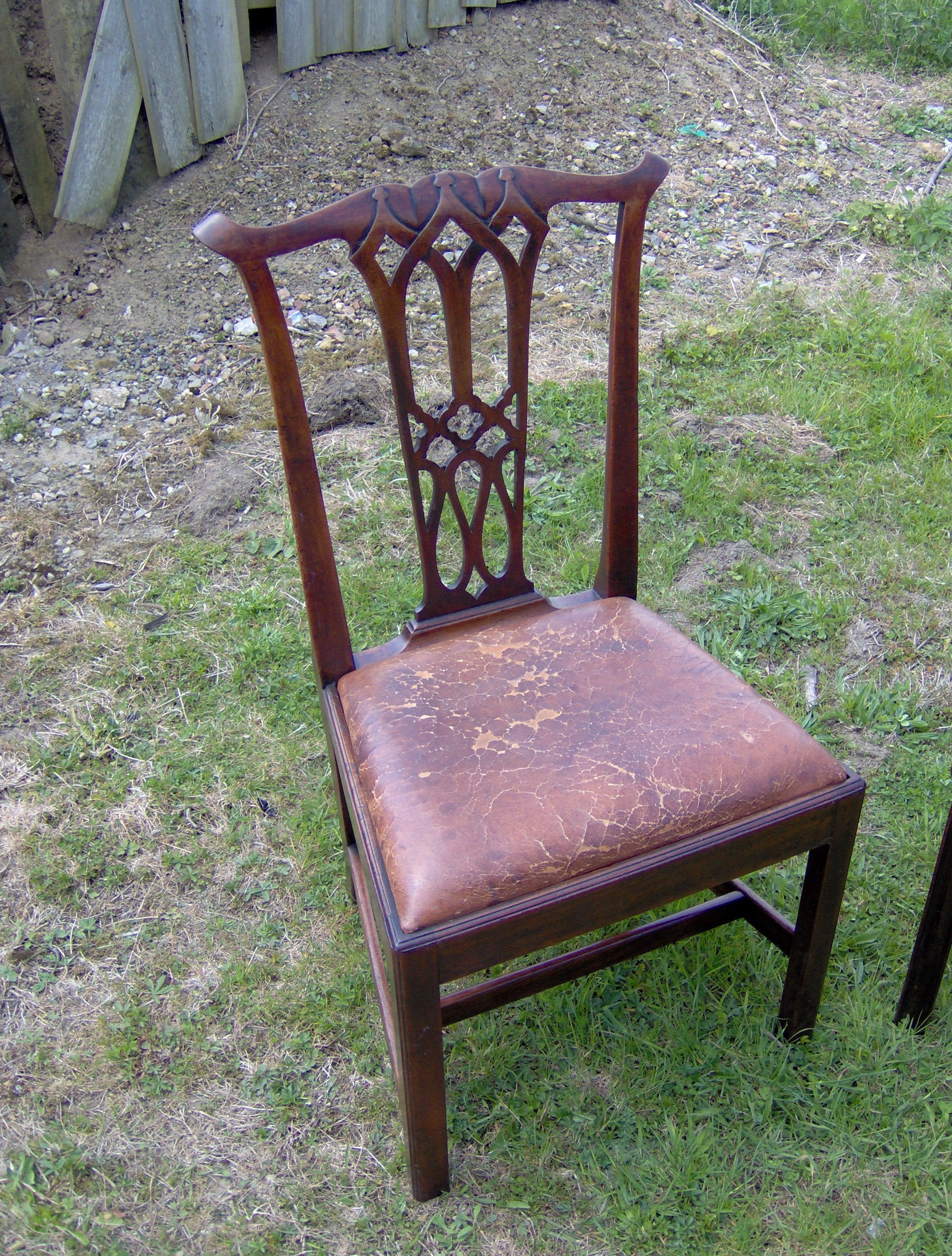 chippendale rocking chair folding covers walmart lovely georgian that i took apart and reglued the