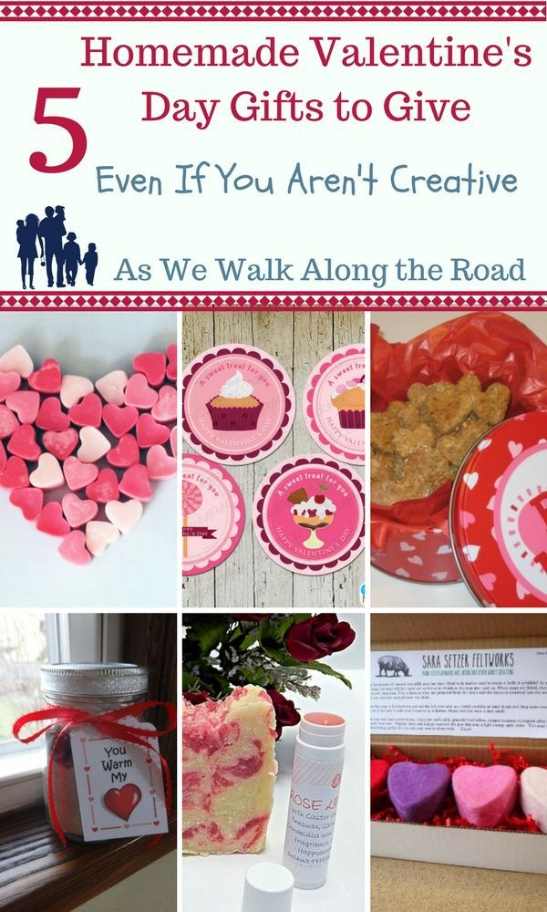 Want some ideas to give homemade gifts for Valentine's Day even if you aren't creative?