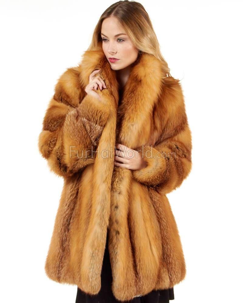 0e2f26040 Women's Josephine Red Fox Fur Stroller Coat in 2019 | For Meghan ...