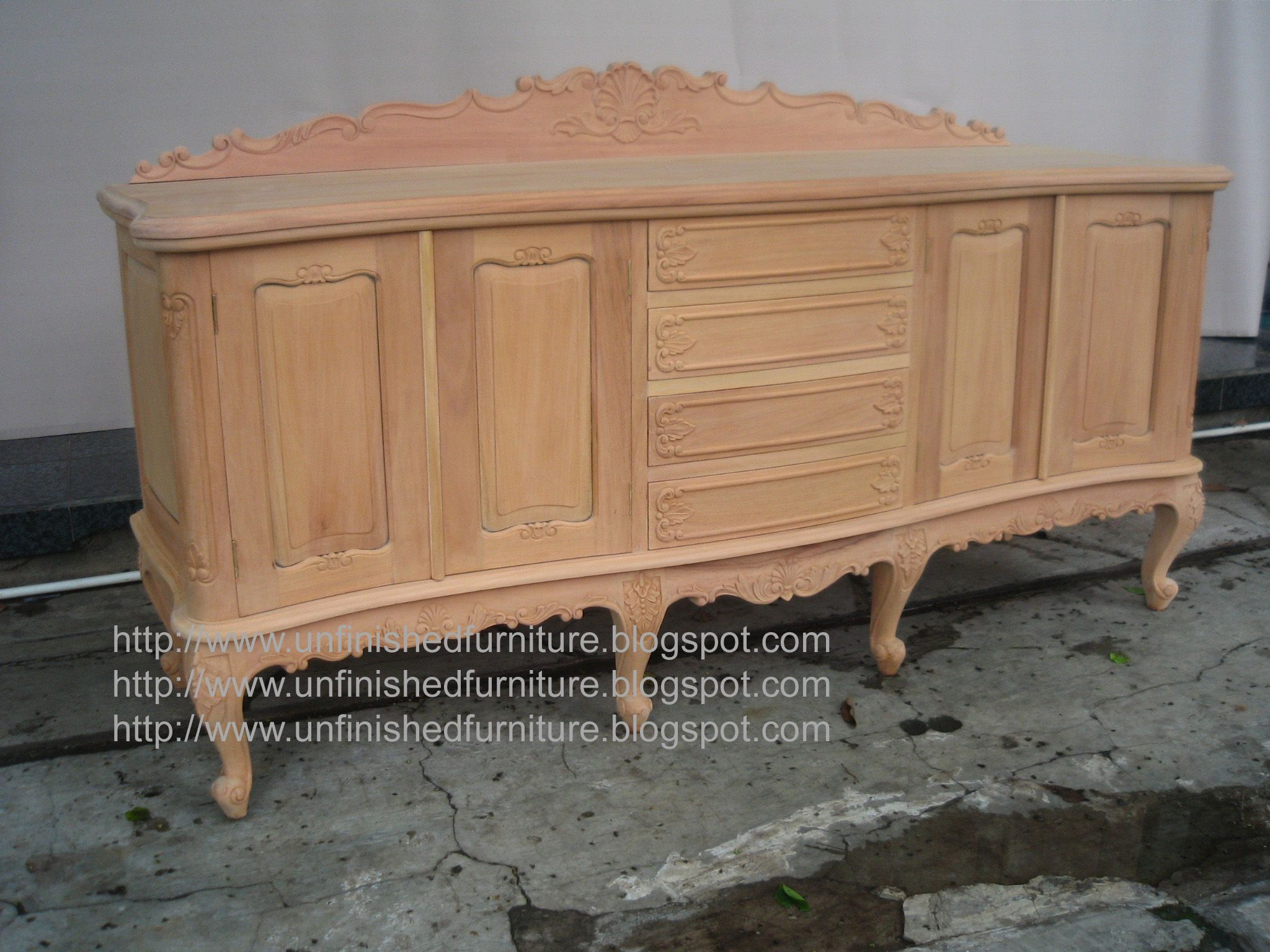 Louis Felipe Sideboard Made Of Solid Mahogany Wood Present In Unfinished Condition Raw Furniture O Mahogany Furniture Raw Furniture Italian Style Furniture