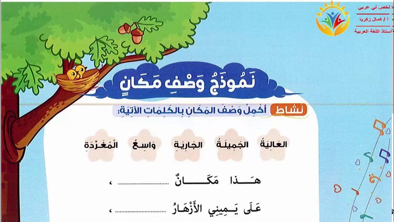 شرح نموذج وصف مكان لغة عربية الصف الثاني الابتدائي الترم الأول المنهج ال Map Map Screenshot