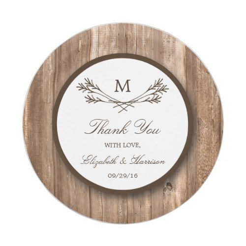 Country Rustic Monogram Branch u0026 Wood Wedding Paper Plate  sc 1 st  Pinterest & Country Rustic Monogram Branch u0026 Wood Wedding Paper Plate | Rustic ...