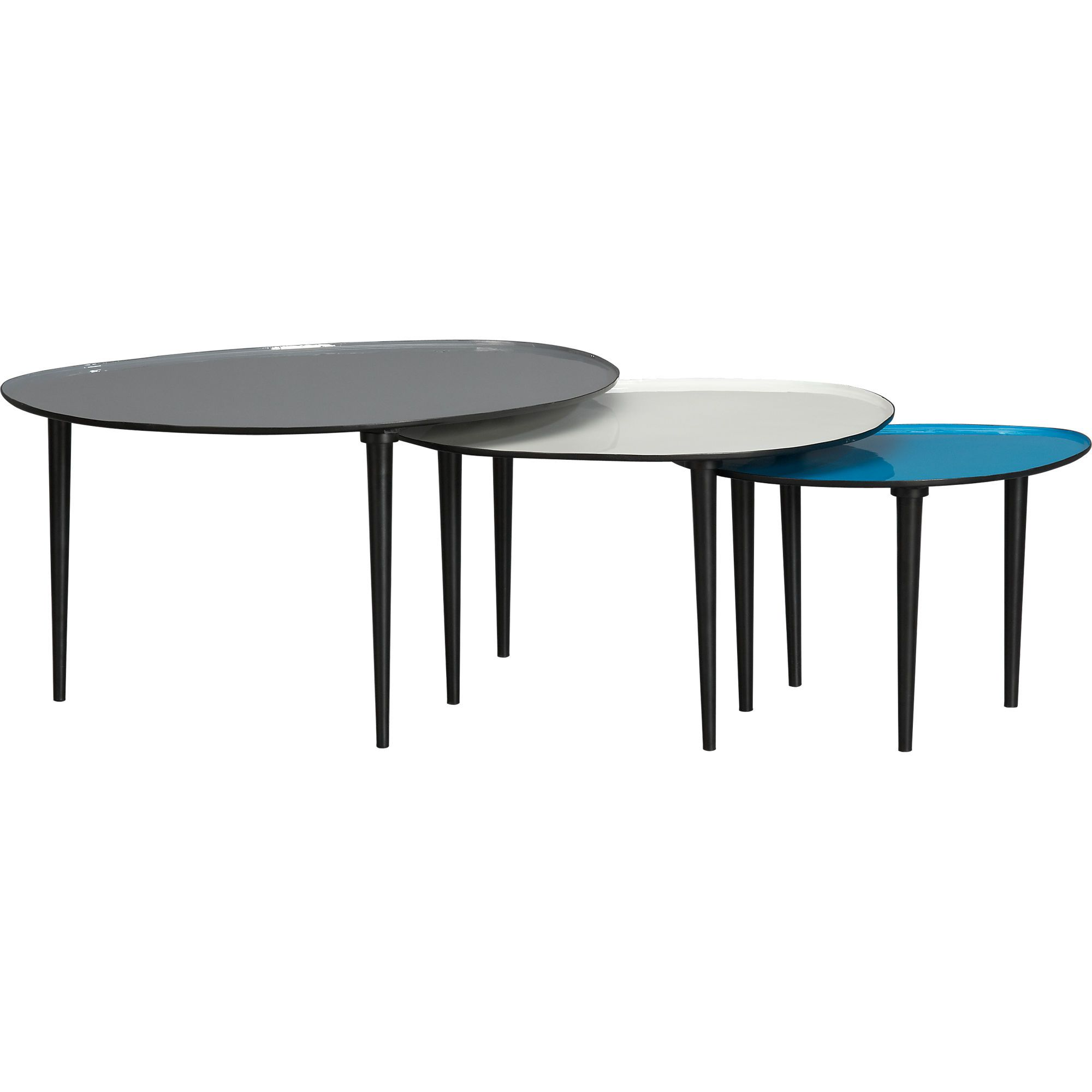 lucent nesting tables set of 4 in accent tables  CB4  Modern