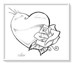 Resultado De Imagen Para Dibujos Para Colorear Bonitos Corazon Para Colorear Corazones Para Dibujar Dibujo De Rosa Facil