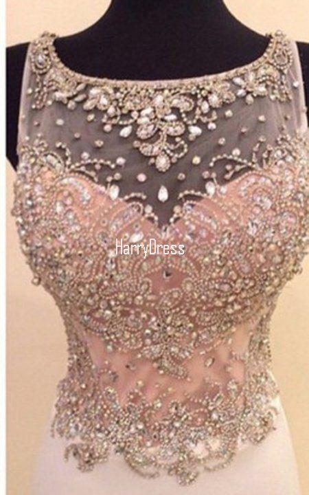 Pink Trumpet Mermaid Scoop Neck Chiffon Tulle Watteau Train Long Prom Dress