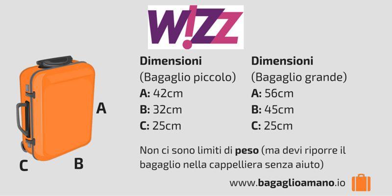 Bagaglio a Mano Wizzair: misure, peso e dimensioni (2020)