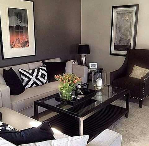 Salas peque as hogar pinterest for Decoracion de living room