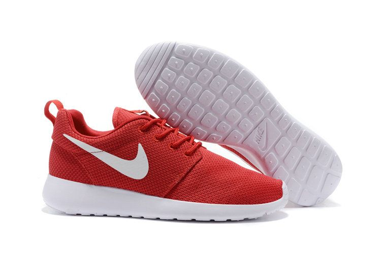 e765de5967cd Youth Big Boys Nike Roshe Run Woven Red White 511881 600 Running Shoes  Trainers