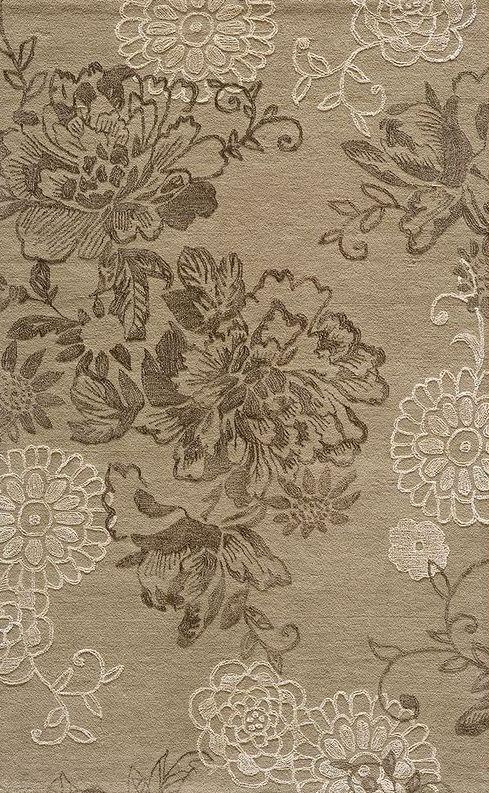 Light Taupe Ornate Floral Wool Rug Taupe Rug Rugs On