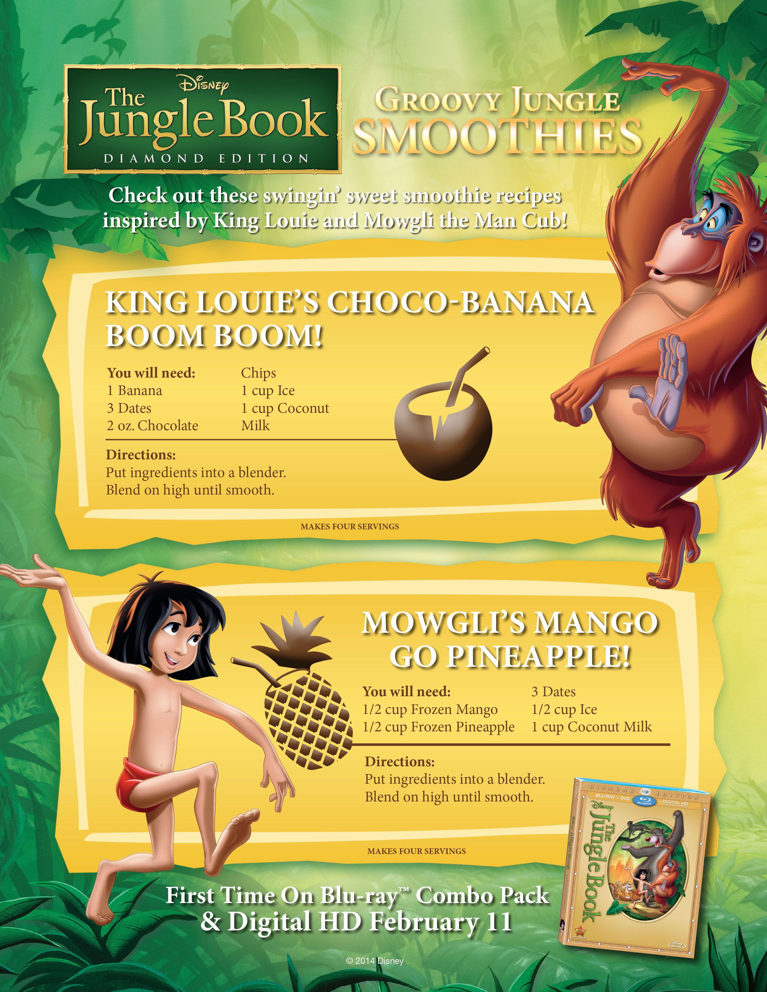 9f6e4b6a336 Get ready for #TheJungleBook Diamond Edition with these delicious smoothie  recipes!