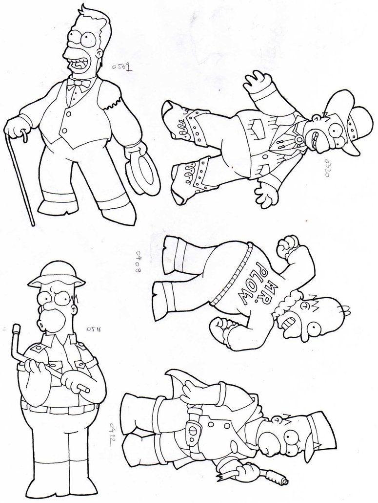 Homer Simpson Coloring Pages | un nuevo dibujo para colorear de los ...
