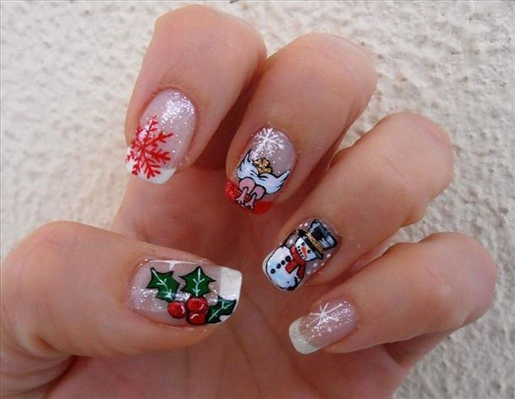 French Christmas Nail Art Summer Nail Designs Nails Pinterest