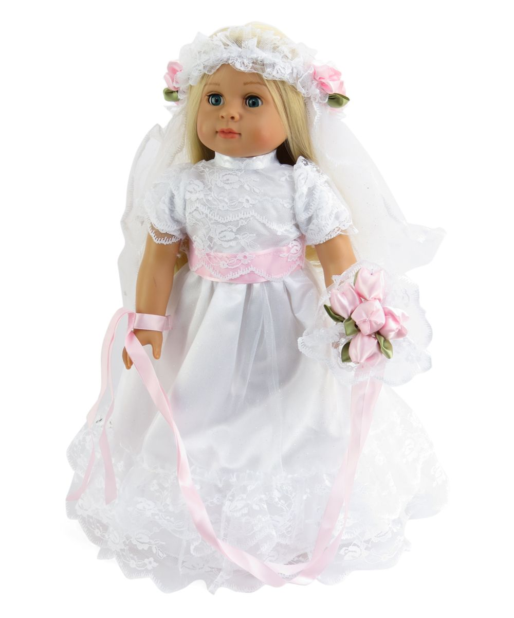 Here Comes the Bride Wedding Dress for 18'' Doll