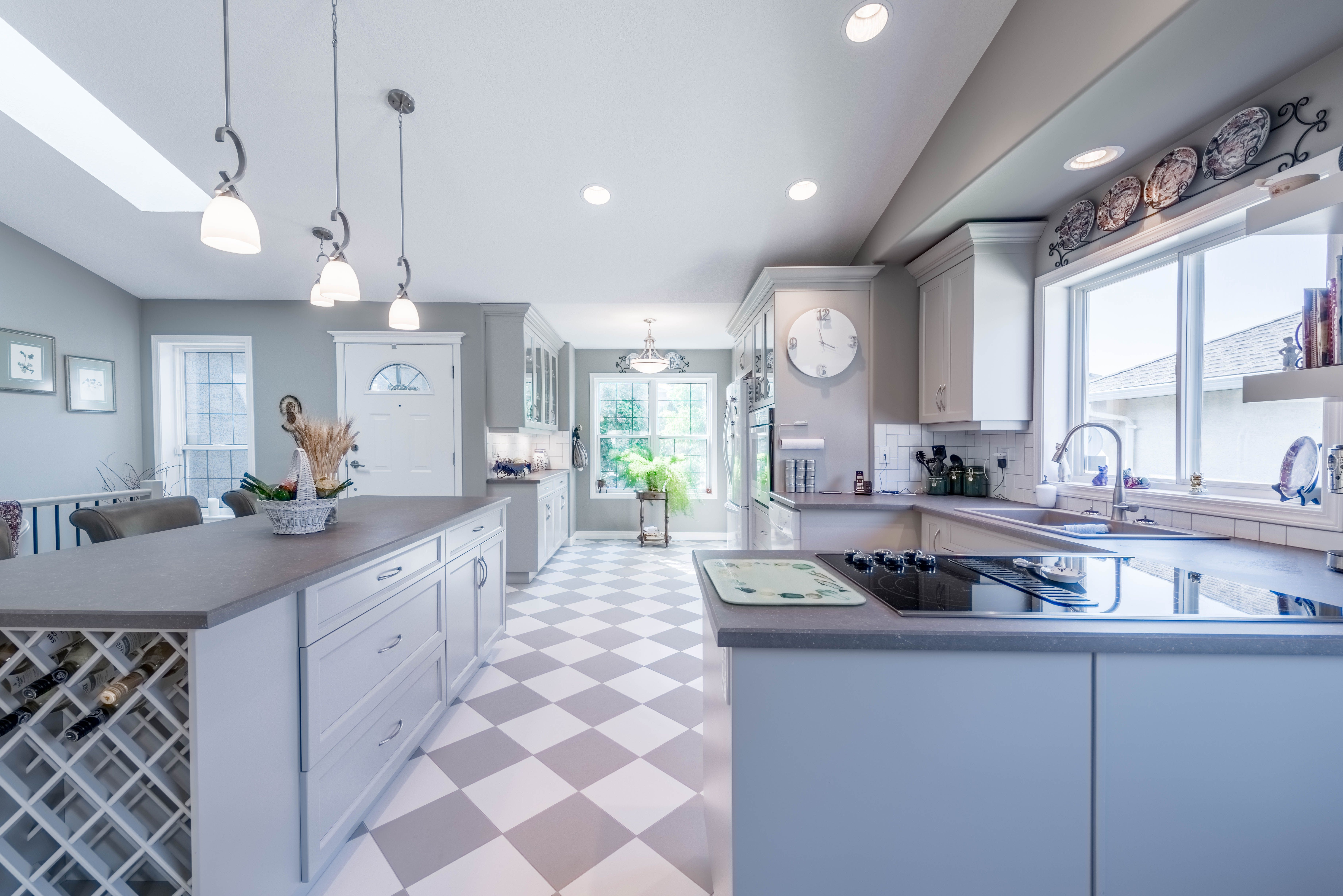 Kitchen Renovation In Vernon Bc Featuring Grey And White