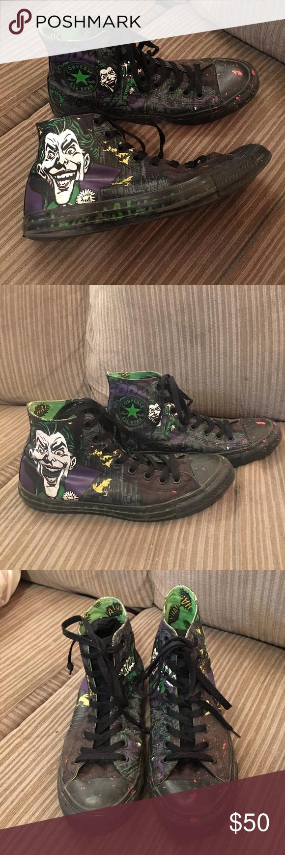 d9856bbf63d4 D.C. Joker Converse sz 9 Gently worn No rips