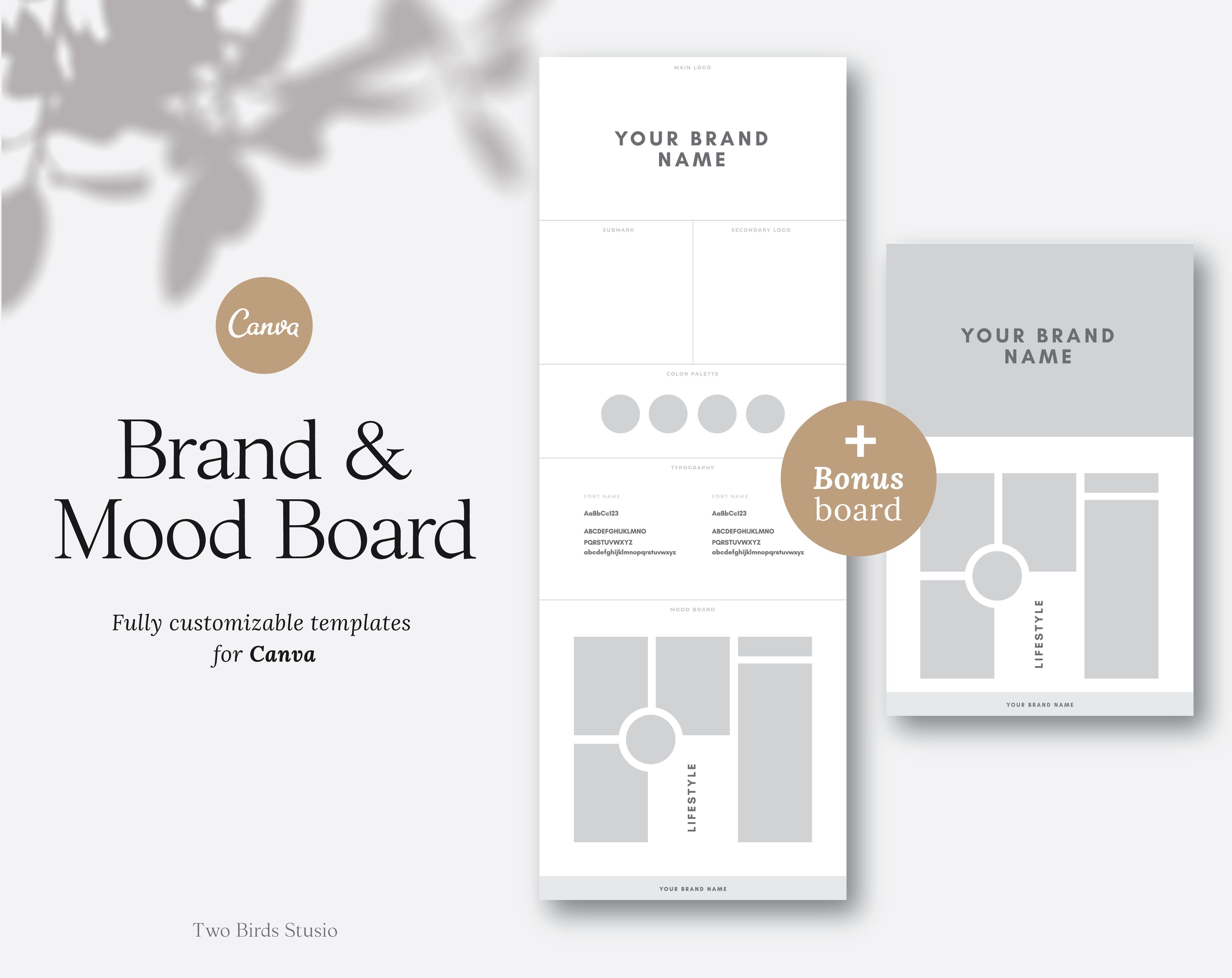 Brand Board Template Mood Board Template Branding