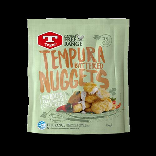Tegel Free Range Tempura Battered Chicken Nuggets 750g 닭, 포장