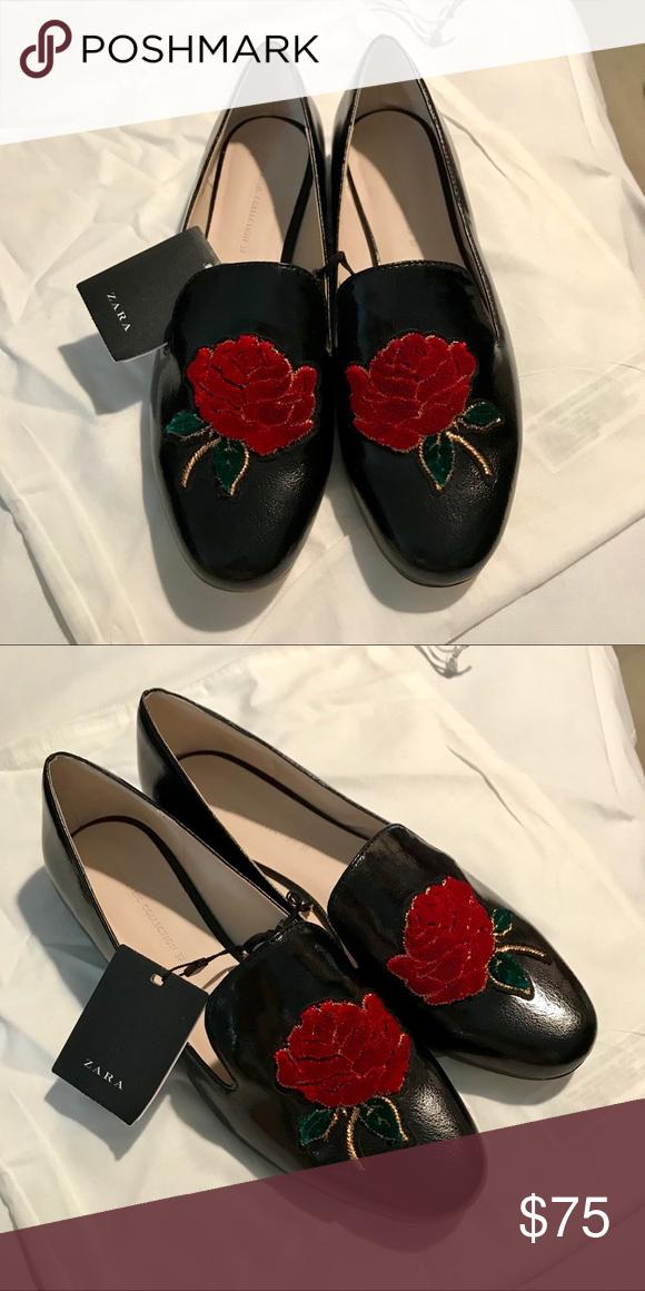 f7046190df0 ✨NWT Zara Loafers ✨NWT Zara Rose Loafers. Never worn. Smoke free pet free  home. Zara Shoes Flats   Loafers