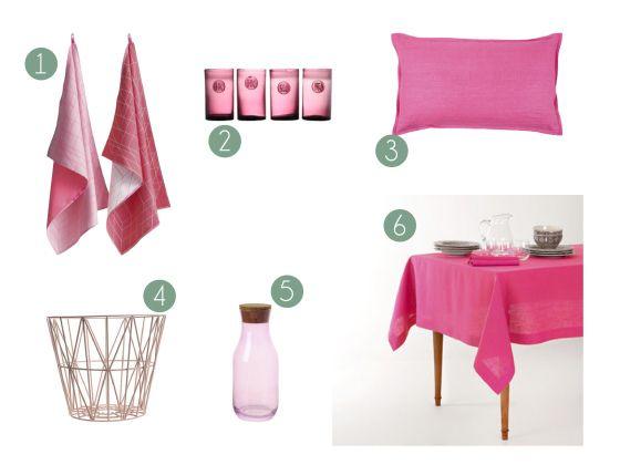 @Estilo Escandinavo  El color rosa en la decoración. 4.-Canasto Wire Basket Black de ferm LIVING. #decoration #decoracion #interiorismo #interiorism #estilonordico #estiloescandinavo