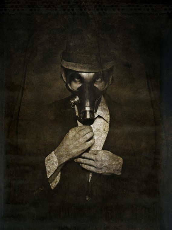 Creepy Halloween Series - Wes Naman  #Dark #Gasmask