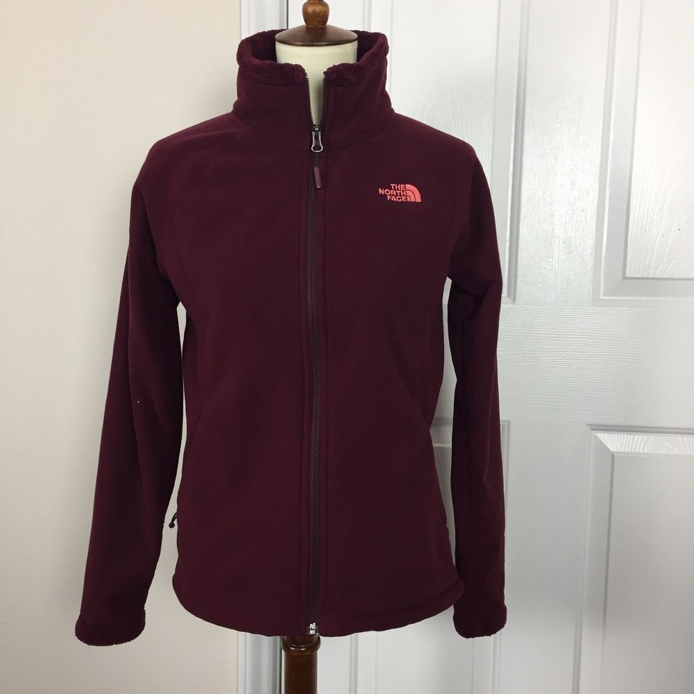The North Face Full Zip Burgundy Fleece Jacket Womens Size M K33 Fashion Clothing Shoes Accessories Womensclo Fleece Jacket Fleece Jacket Womens Jackets [ 1000 x 1000 Pixel ]