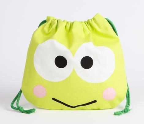 1f5e4aa5b14a Keroppi Draw-String Bag  Face