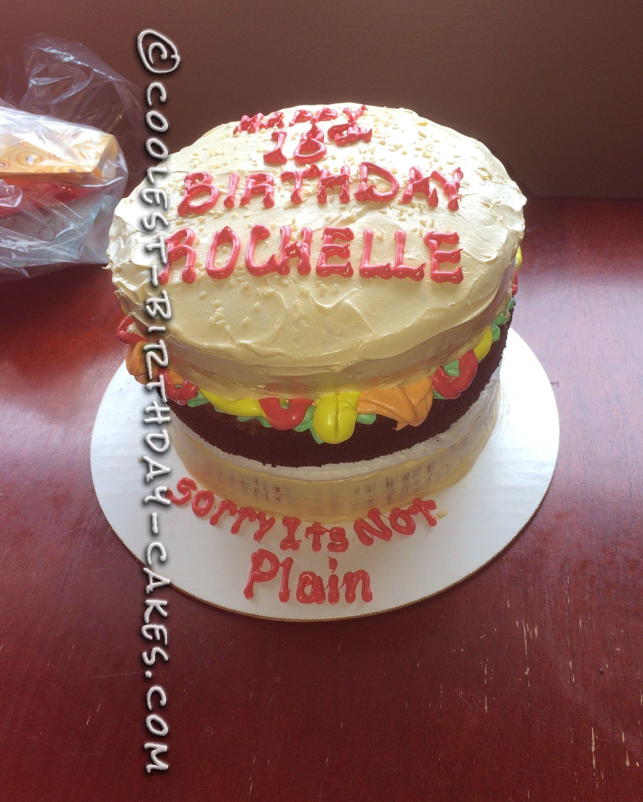 Coolest Cheeseburger Birthday Cake Birthday Cakes Birthdays And Cake