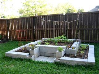 this cinder block garden construct sure looks cool - Cinder Block Raised Garden Bed