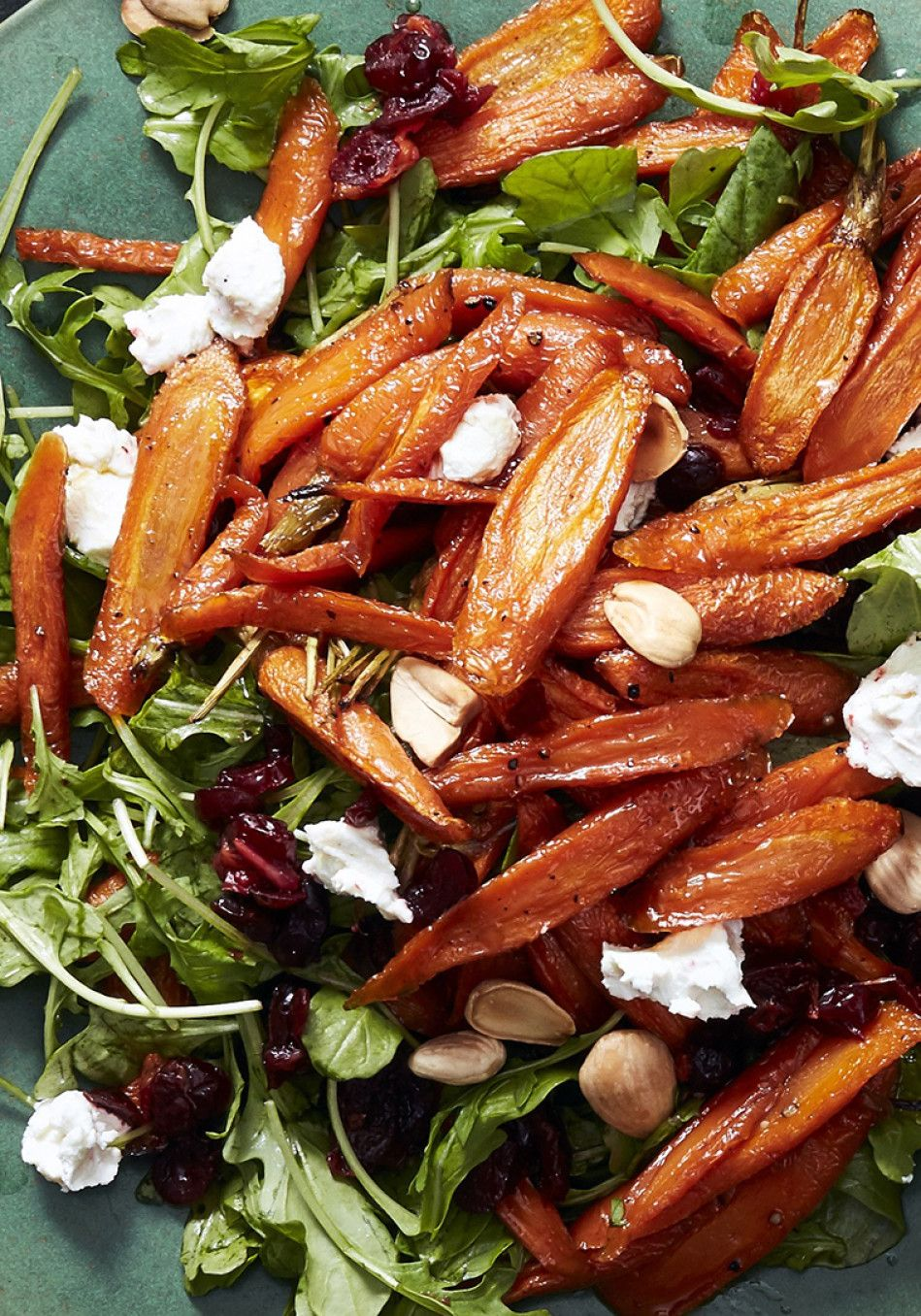 Ina Garten's Maple-Roasted Carrot Salad Recipe #thanksgivingrecipes
