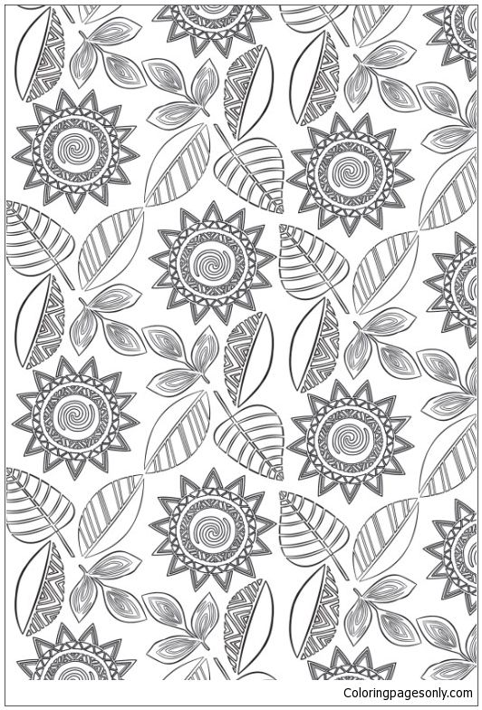 moana polynesian patterns coloring page moana coloring pages
