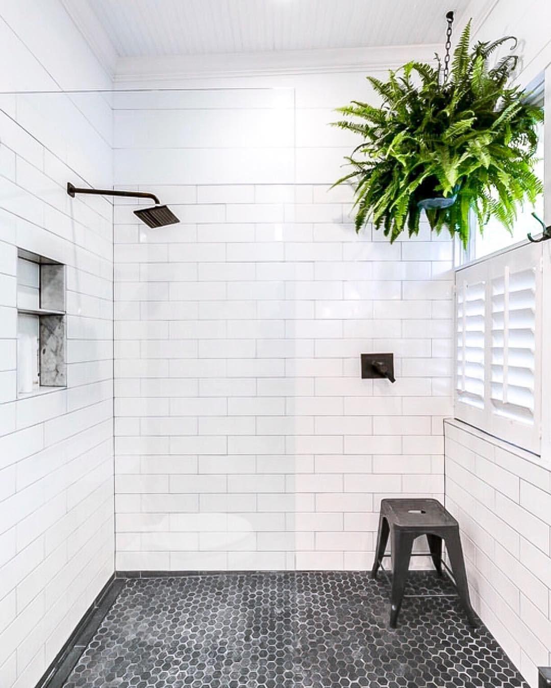 "Brynn on Instagram: ""Fun little #bathroom #renovation tip for walk-in showers"