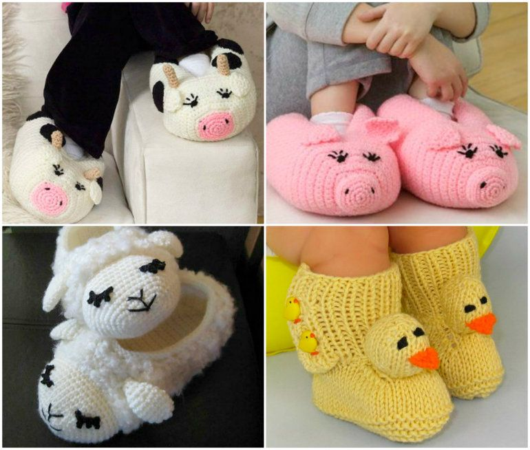 Crochet Animal Slippers Free Patterns | pantuflas | Pinterest | De ...