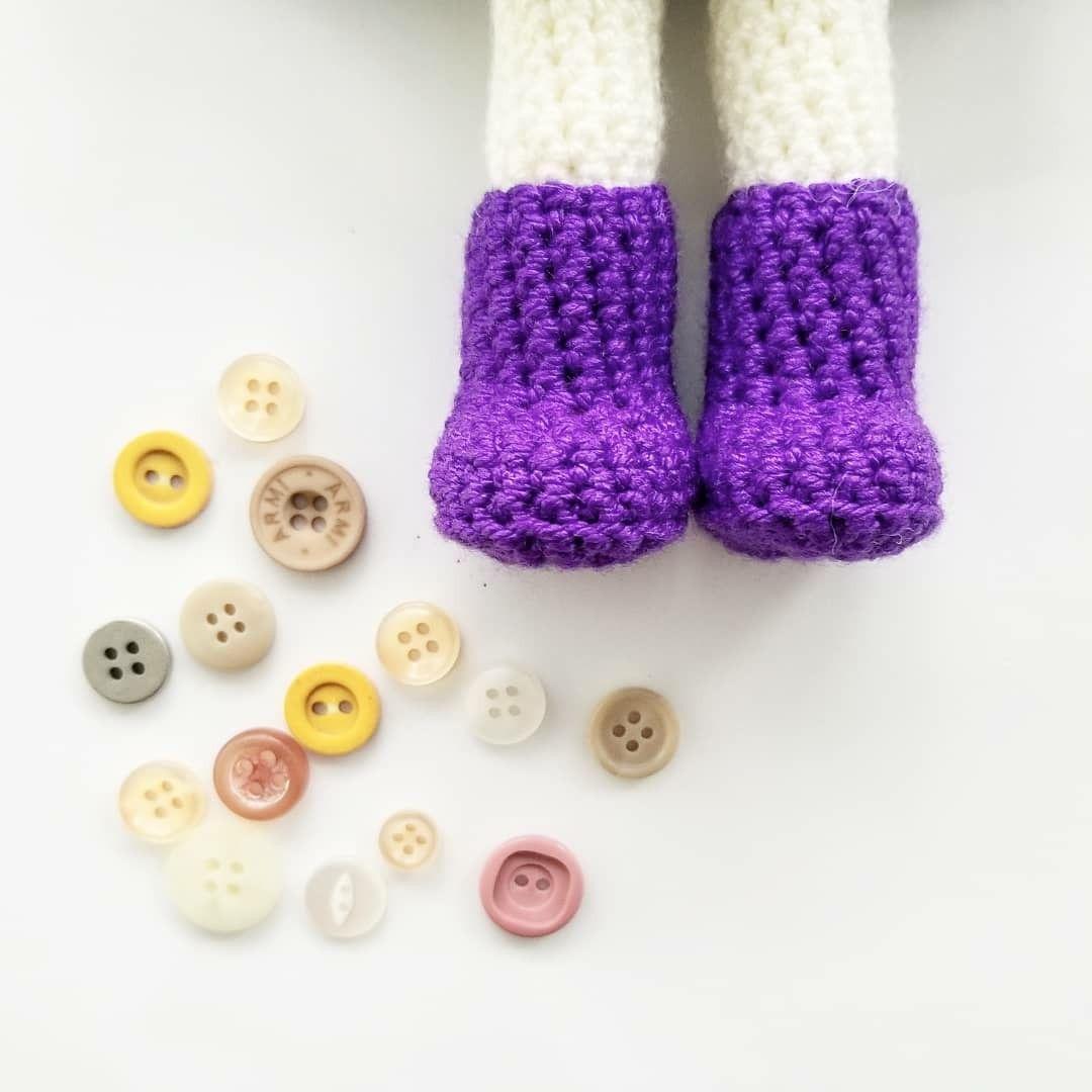 maria.la.larga Shoe Doll, Crochet Doll Pattern. Zapato Muñeca a ...