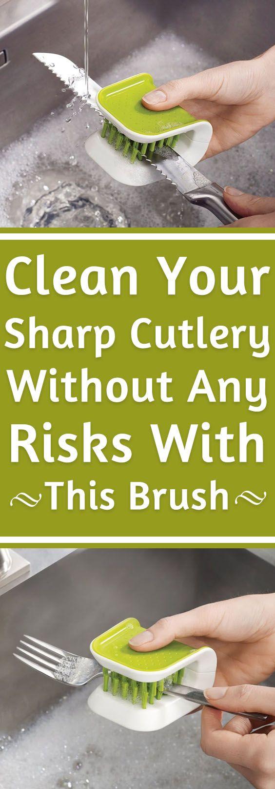 Scrub Brush For Knife & Cutlery