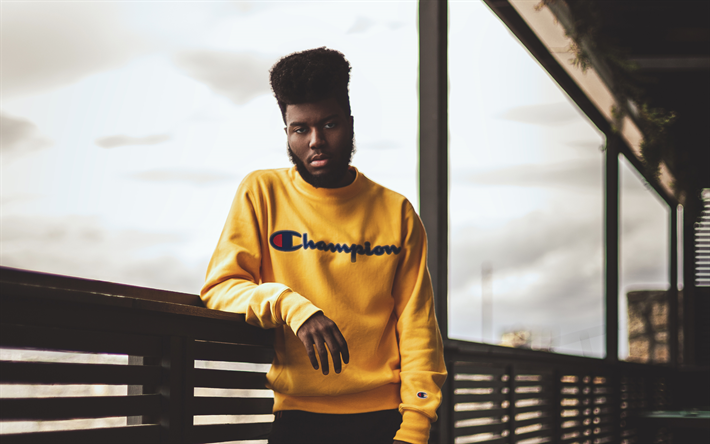Download Wallpapers Khalid Khalid Robinson Portrait 4k Yellow Sweater Young Singers Pop American Singer Usa Besthqwallpapers Com Khalid Singer Khalid Singer