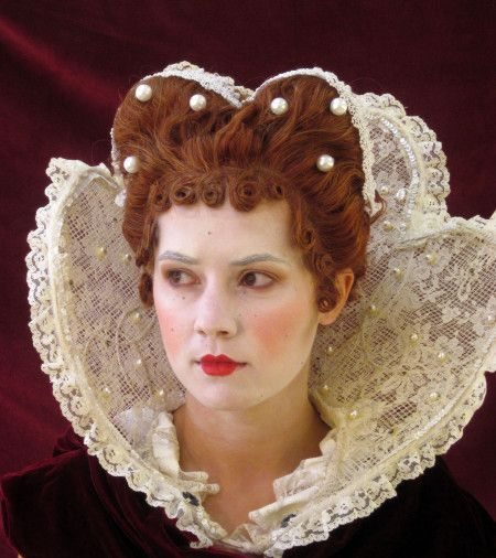 elizabethan makeup and hair front