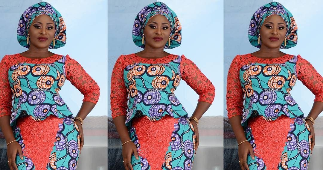 85a2a3e5e Stunning Ankara and Lace Mixed Styles   Skirt and Blouse You Can ...