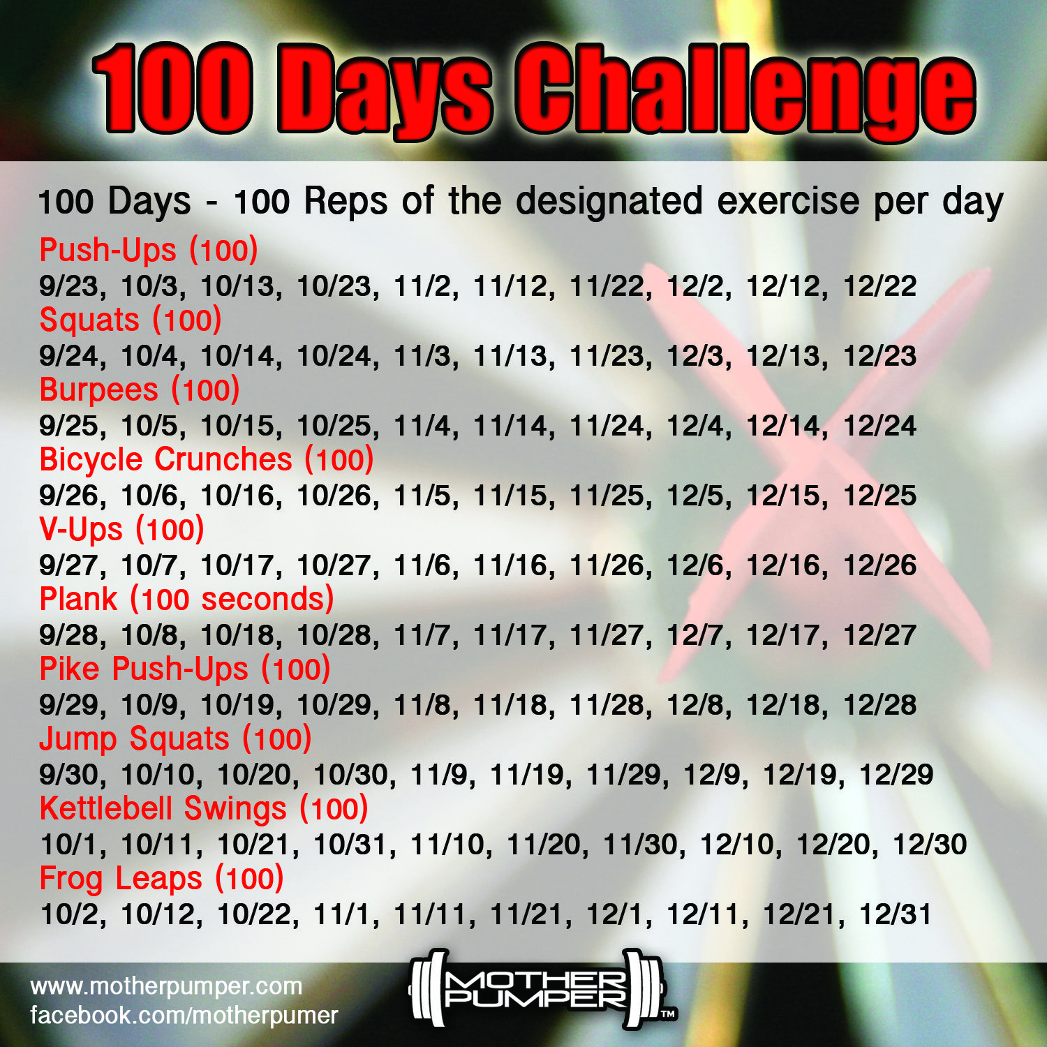 100 Days Left In 100 Reps 100 Days Challenge