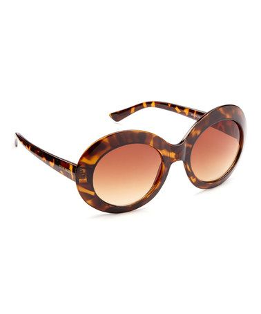 This Tortoise Thick Round Sunglasses is perfect! #zulilyfinds