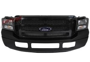 Ford Full 07 Front End Conversion For The 99 04 Super Duty Excursion Black Paintable