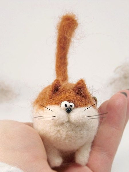 Cat Zezis Needle felt Needle felting dog Needle felted by Agafil #needlefeltedcat - homehobbies