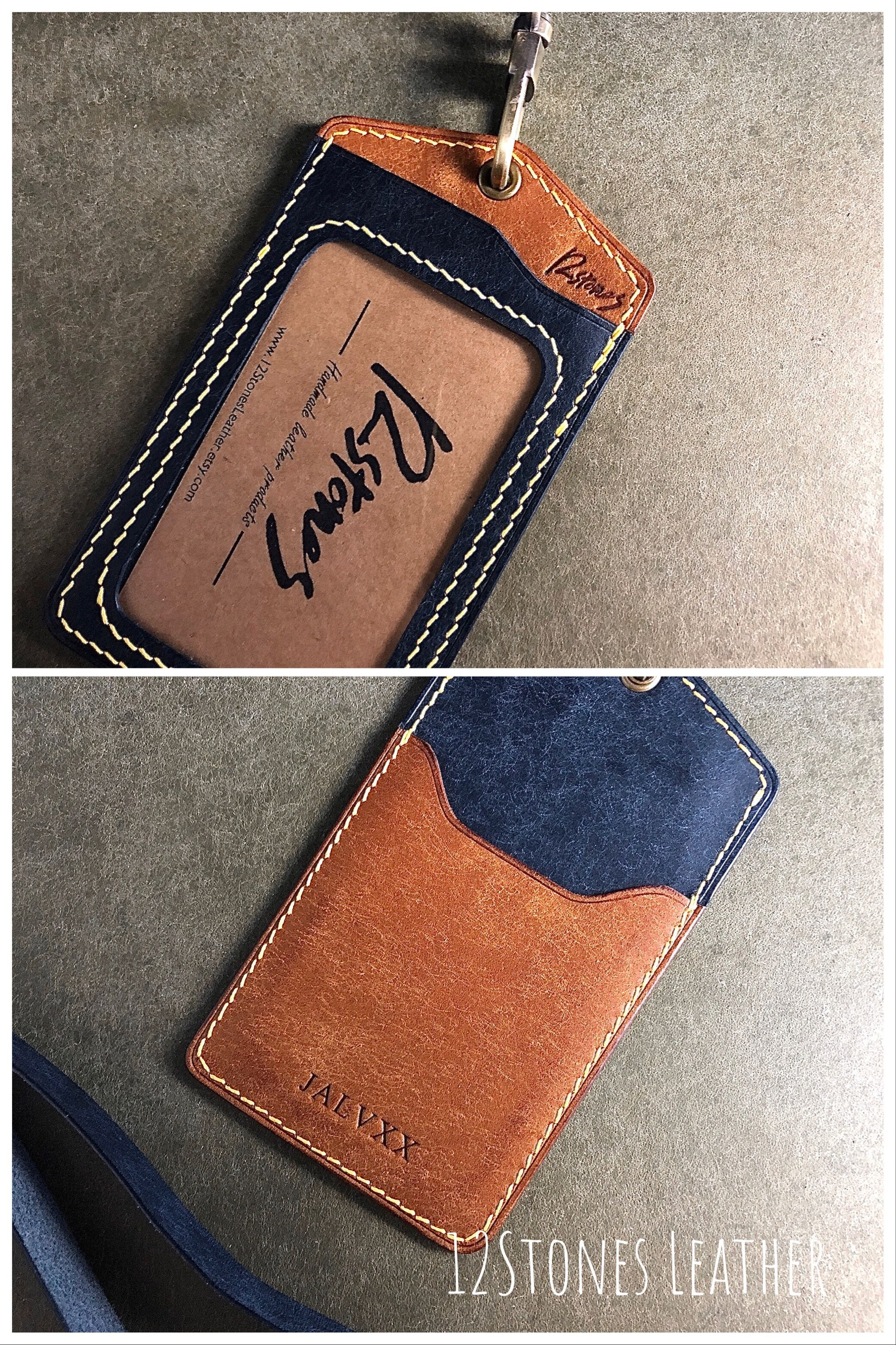 Custom Made Lanyards Lanyard Badge Holder Custom Id Card Holder Leather Keyring Leather Bag Tag Leather Lanyard