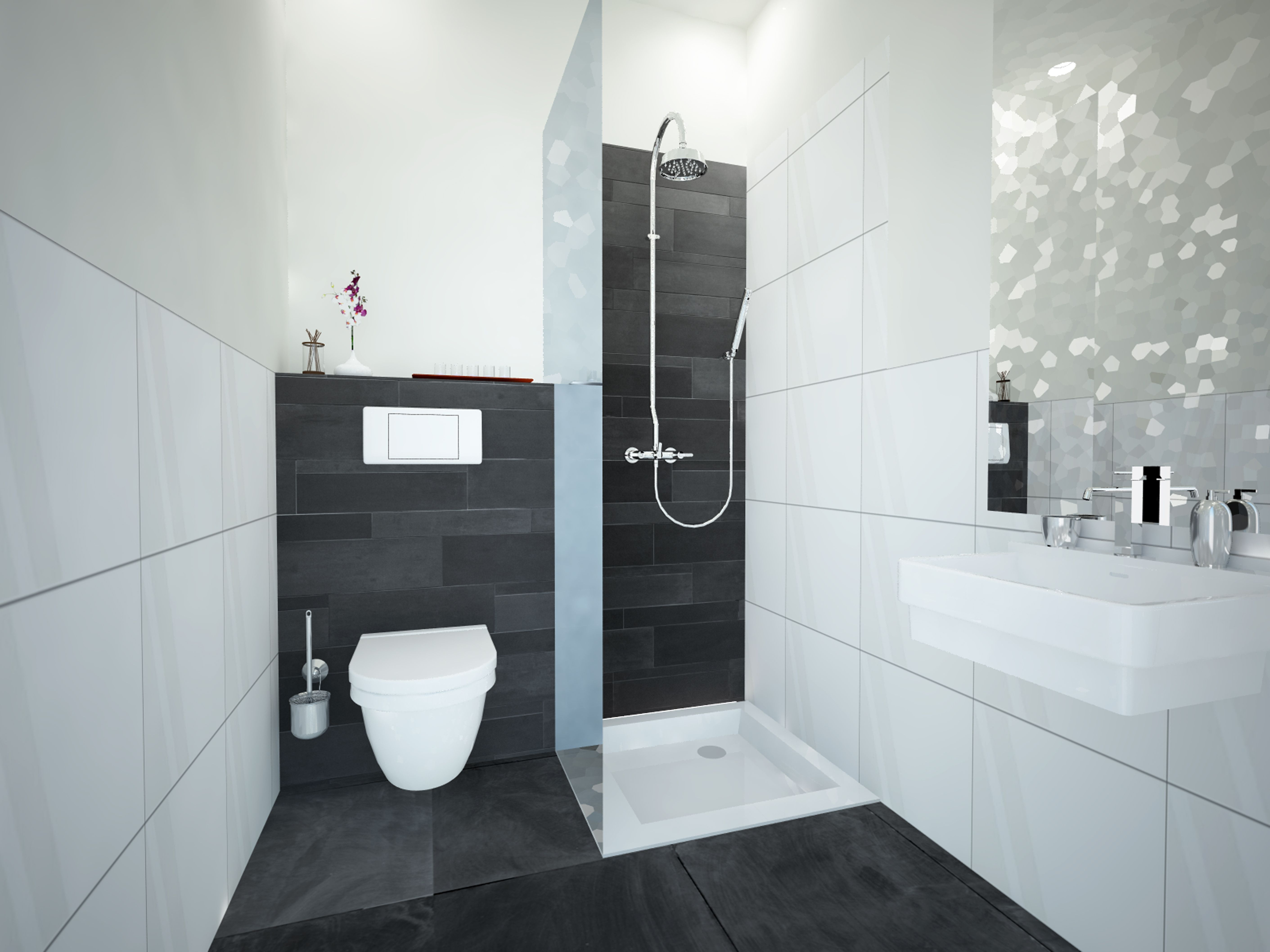 Badkamer zwart wit badkamers pinterest badkamer zwart badkamer en zoeken - Moderne design badkamer ...